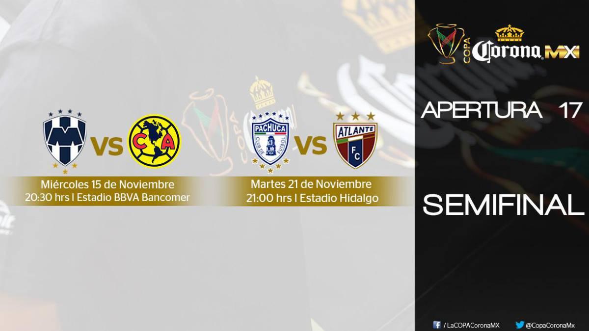 Miércoles 15 y martes 21 serán las semifinales de la Copa MX