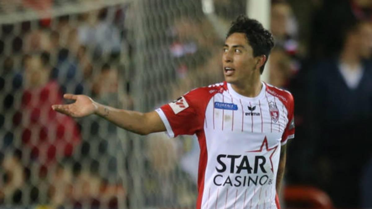 Omar Govea anotó en la derrota del Mouscron ante el Anderlecht