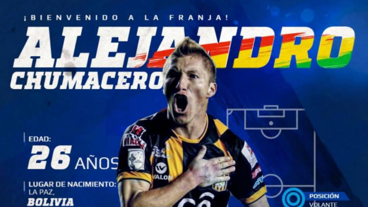 Alejandro Chumacero nuevo refuerzo de Puebla