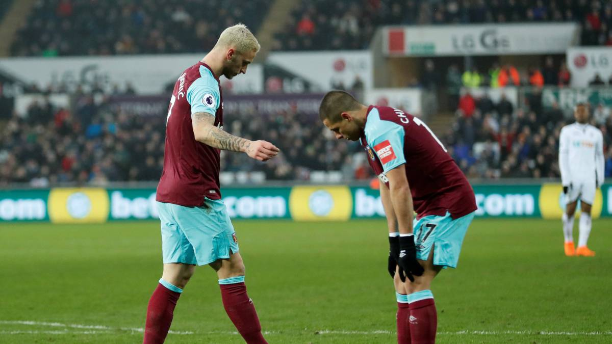 West-Ham de Chicharito vence 4-1 al Swansea City