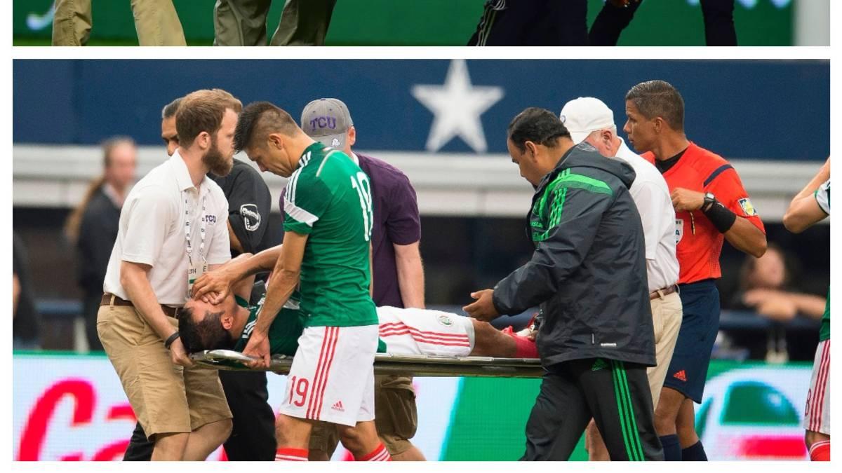 Néstor Araujo sufre terrible lesión en la rodilla izquierda