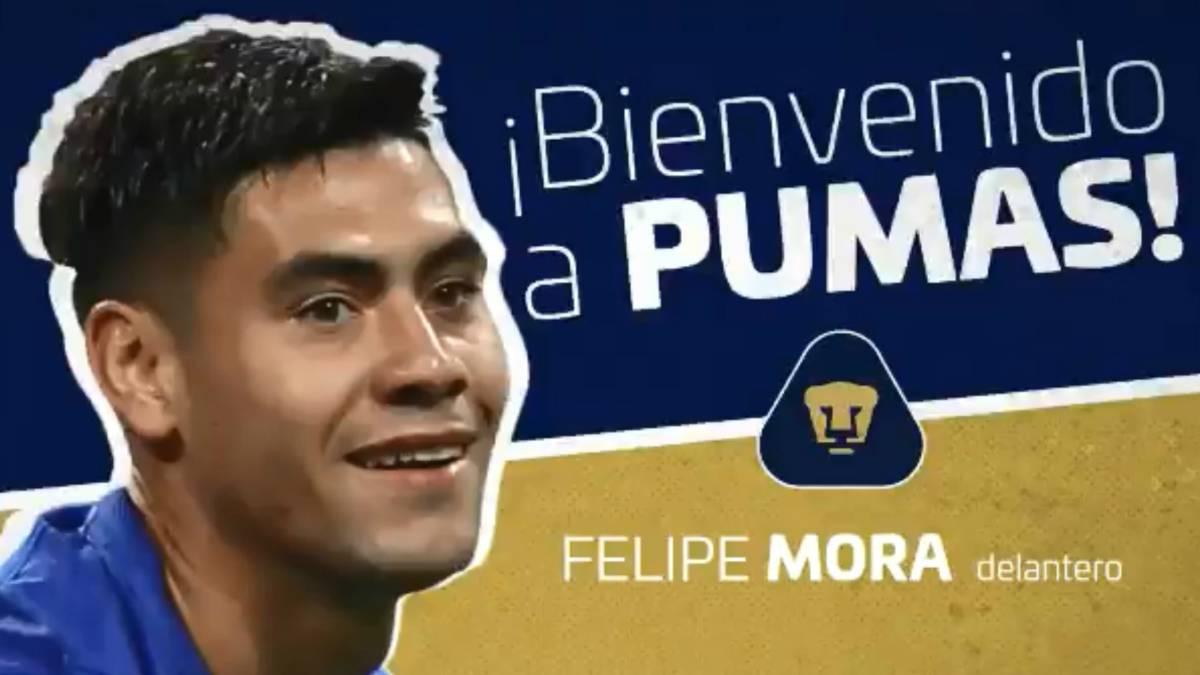 Oficial: Felipe Mora es el séptimo fichaje de Pumas