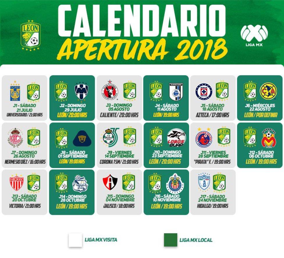 Checa el calendario de tu equipo para el Apertura 2018 de Liga MX - AS  México e31c78a1c874a