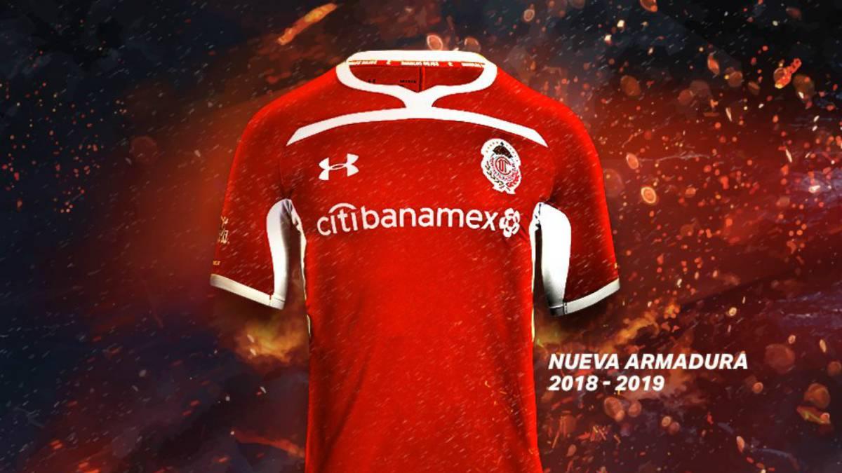 Toluca presentó su nueva camiseta para el Apertura 2018 - AS México 6196ae1ff30