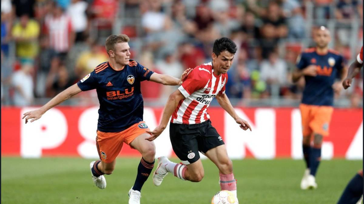 Pereiro le dio el triunfo a PSV sobre Valencia