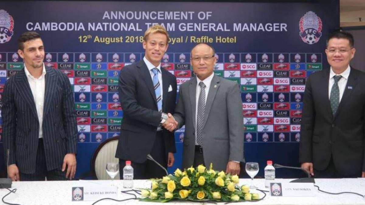 Keisuke Honda sorprende al ser nombrado DT de Camboya