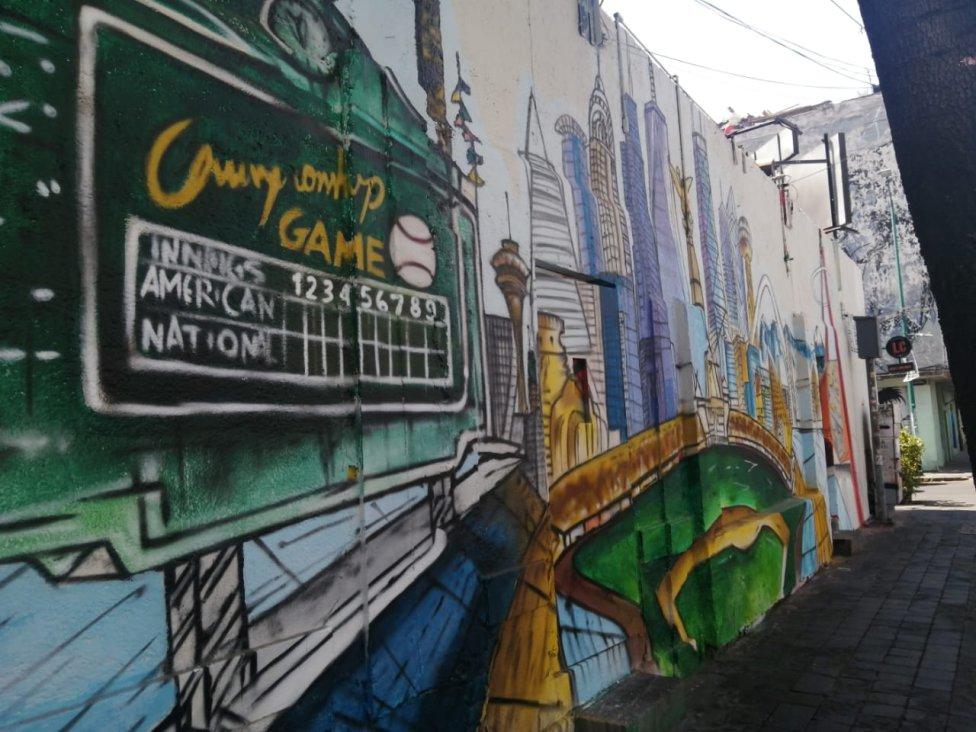 Los espectaculares murales dedicados a la MLB en la Ciudad de México