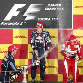 El podio del GP de Japón