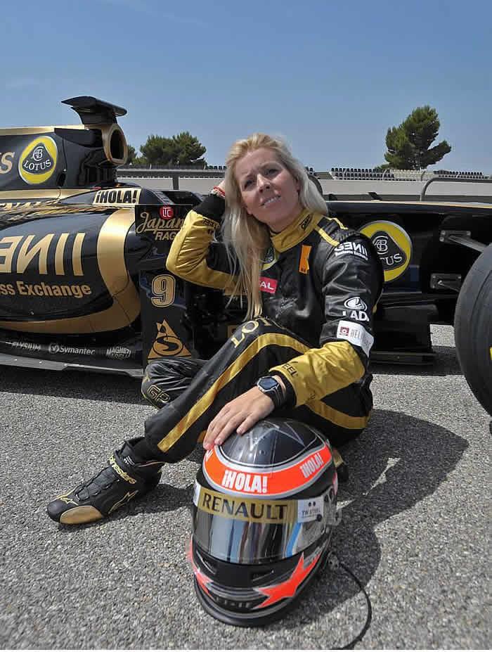 María de Villota, piloto reserva de Marussia F1