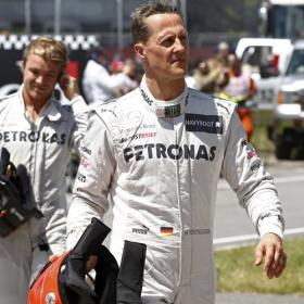 Schumacher gafado en 2012