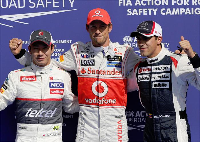 Alonso saldrá quinto; la pole en Bélgica fue para Button