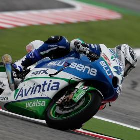 David Salom debutó con lluvia en MotoGP