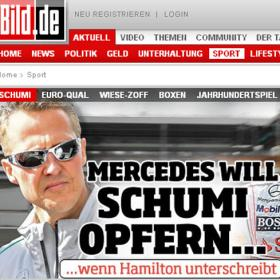 Mercedes sacrificar a Schumi si consigue fichar a Hamilton