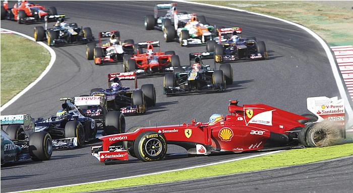 Vettel gana y se pone a cuatro puntos de Alonso