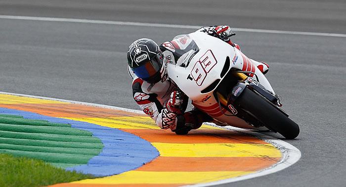Márquez a un segundo  de Pedrosa en su debut