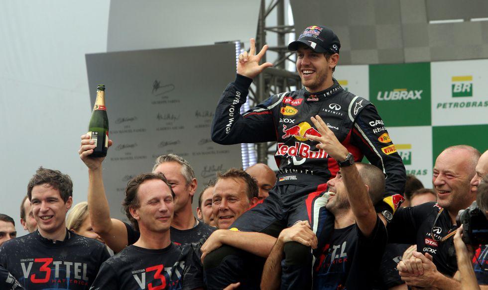 El título de Fernando Alonso fue a parar a manos de Vettel