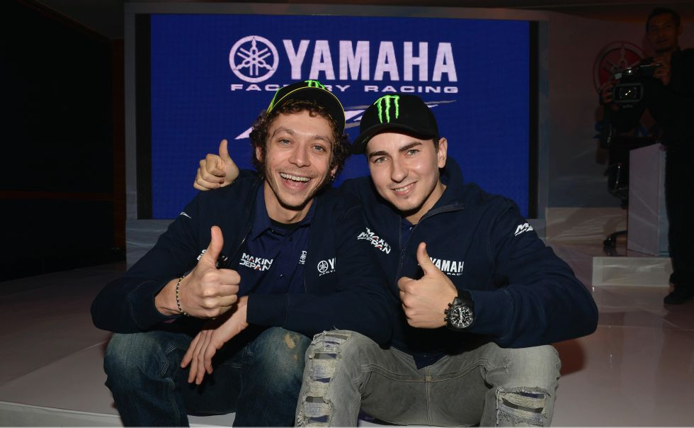 Lorenzo y Rossi ya ejercen como compañeros en Yamaha