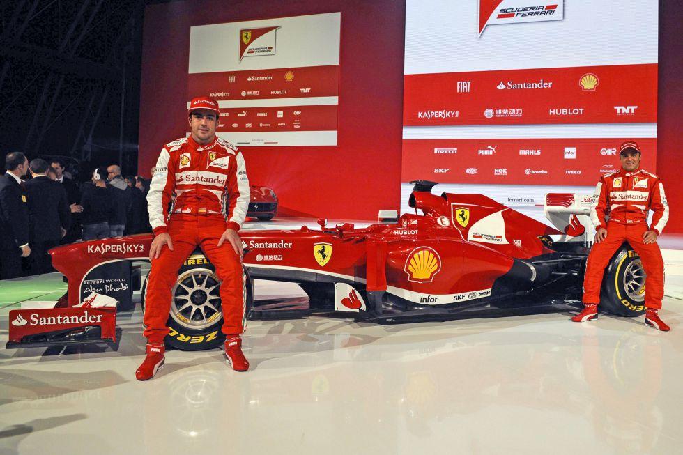 Ferrari presenta el F138 y se pone guapo para el Mundial