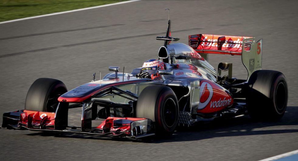 Button, el más rápido en la primera jornada de Jerez