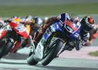 Podio perfecto en Losail: Lorenzo, Rossi y Márquez