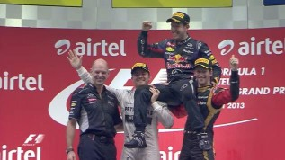 Video: Fórmula 1. GP de India. Vettel gana y ya tiene su cuarto título mundial