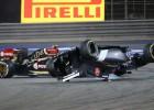 Sancionan a Maldonado por golpear a Esteban Gutiérrez