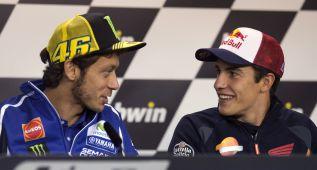 Rossi animó a Marc Márquez a intentar lograr el doblete