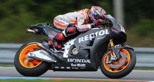 Márquez se quita la espina y lidera los test de Brno