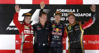 Fernando Alonso es un habitual del podio en Singapur