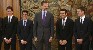 El Rey felicita en catalán a los campeones del mundo