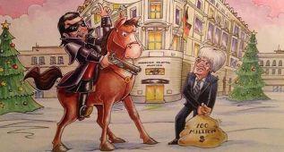 Ecclestone protagoniza su postal navideña de 2014