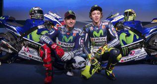 Lorenzo y Rossi presentan la nueva Yamaha