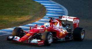 Vettel, el primero en saltar a la pista en los test de Jerez