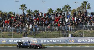 Seis vueltas para Alonso en su debut y Vettel fue el más rápido