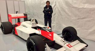 Fernando Alonso, cuatro vueltas con el coche de su primer kart