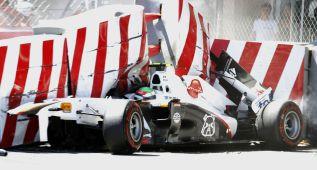 Sergio Pérez volvió a la pista a los 26 días de sufrir un accidente