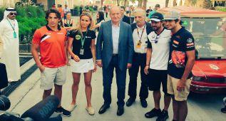 """El rey Juan Carlos a Fernando Alonso: """"A Lauda le voy a dar"""""""