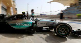 Rosberg manda en los libres con Alonso en la zona media