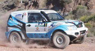 Rubén Gracia, en el Dakar 2016 con un Mitsubishi Montero