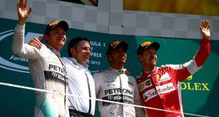 Sebastian Vettel fue feliz en la desgracia de Valtteri Bottas