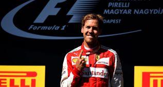 "Vettel: ""Esta victoria es para Jules y para todo Ferrari"""