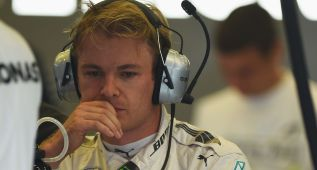 """Rosberg: """"Fue pura suerte no haber terminado en la pared"""""""