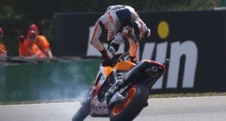 Pedrosa llega a Silverstone sin rastro de la caída de Brno