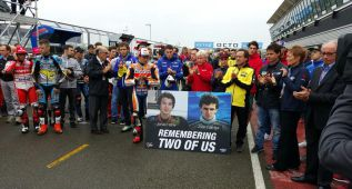 Emotivo minuto de silencio en Silverstone por Garriga y Hähle