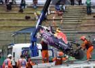 Kvyat sale ileso de un terrible accidente en Suzuka