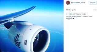 Alonso cuelga la foto de un motor de avión tras la polémica