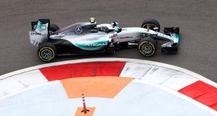 Rosberg marcó el mejor tiempo en la sesión interrumpida