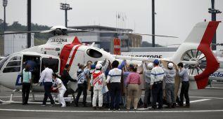 Alex de Angelis, trasladado al hospital tras una dura caída