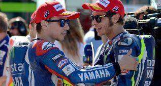Crece la tensión entre Lorenzo y Rossi tras la calificación