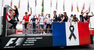 La F-1 homenajeó a las víctimas de los atentados de París